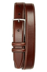 Nordstrom Big And Tall Men's Shop Carter Leather Dress Belt Chili