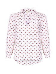 Yumi Floral Printed Top White