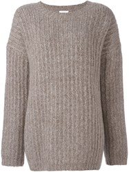 See By Chloe Chunky Ribbed Jumper Nude Neutrals