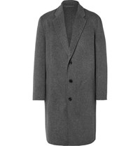 Acne Studios Charles Wool And Cashmere Blend Overcoat Gray
