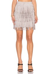 Toby Heart Ginger X Love Indie Stick Up Suede Fringe Skirt Gray