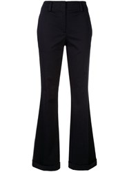 Ck Calvin Klein Side Stripe Flared Trousers Blue