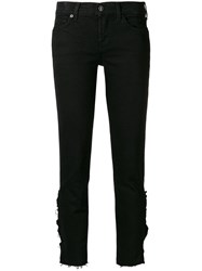 7 For All Mankind Distressed Effect Jeans Black
