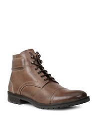 Gbx Leather Boots Tan Brown