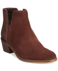 Cole Haan Abbot Ankle Booties Women's Shoes Chestnut Suede