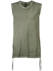 Tom Rebl Classic Tank Top Men Cotton L Green