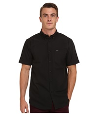 Matix Clothing Company Tom Oxford Short Sleeve Woven Top Black Men's Short Sleeve Button Up