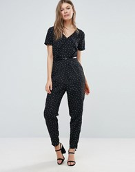 Sugarhill Boutique Polka Jumpsuit Black