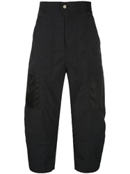 Julien David Balloon Leg Cargo Trousers Black