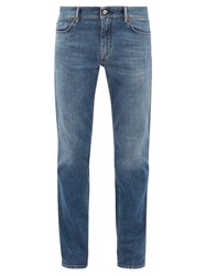 Acne Studios North Slim Leg Cotton Blend Jeans Mid Blue