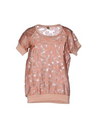 Jijil Topwear T Shirts Women Skin Color