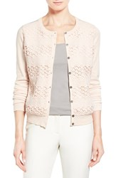 Women's Vince Camuto Lace Stripe Front Cardigan