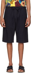 Paul Smith Navy Tie Waist Shorts