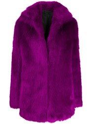 Rta Faux Fur Coat Purple