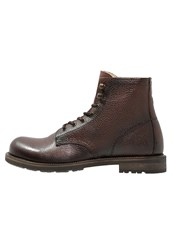 Shoe The Bear Worker Laceup Boots Brown