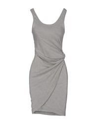 Maison Espin Short Dresses Grey
