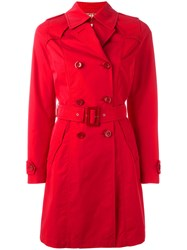 Herno Double Breasted Coat Red