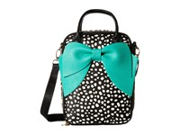 Betsey Johnson Bow Lunch Tote Spot Tote Handbags Black