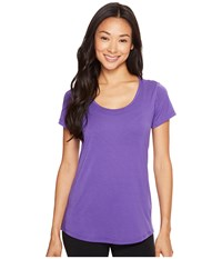 Lucy S S Workout Tee Prism Violet Women's Workout Purple