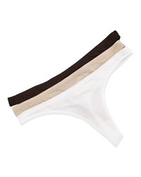 Skin Organic Cotton Low Rise Thong Black