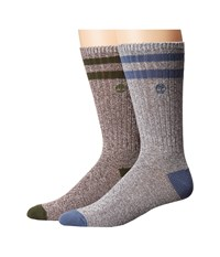 Timberland Marled 2 Pack Crew Socks Vintage Indigo Forest Night Men's Crew Cut Socks Shoes Gray