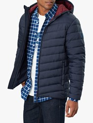 Joules Hooded Go To Quilted Jacket Marine Navy