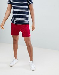 Farah Val Stretch Twill Shorts In Red