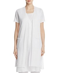Eileen Fisher Short Sleeve Long Cardigan White