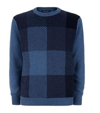 Aquascutum London Aquascutum Zoomed Check Sweater Male