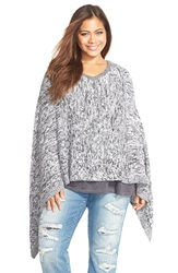 Tart 'Alana' V Neck Poncho Plus Size Black White
