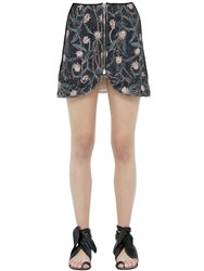Isabel Marant Floral Printed Cotton Mini Skirt