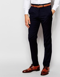French Connection Plain Slim Fit Suit Trouser Navy