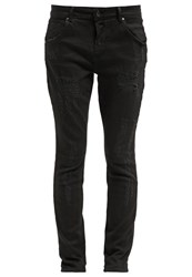 Only Onllise Straight Leg Jeans Black