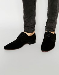 Asos Derby Shoes In Black Suede Black