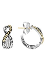 Lagos Women's Infinity Double Twist Hoop Earrings