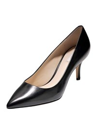 Cole Haan Vesta Grand Leather Point Toe Pumps Black