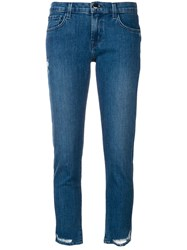 J Brand Distressed Detail Jeans Blue