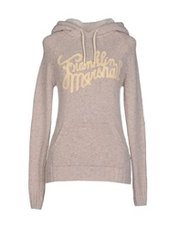 Franklin And Marshall Sweaters Beige