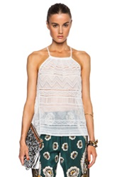 M Missoni Halter Tank Top In White