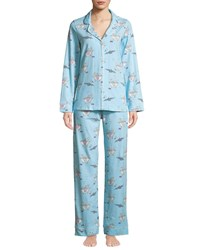 Bedhead Time To Relax Classic Pajama Set Blue Pattern