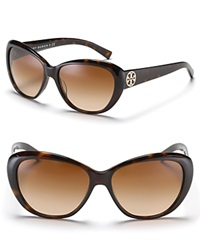 Tory Burch Sophisticated Sunglasses With Logo Detail