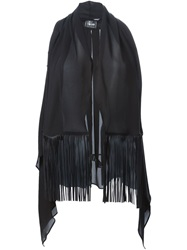 Lost And Found Fringed Sleeveless Gilet Black