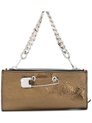 Sonia Rykiel By Safety Pin Detail Clutch Metallic