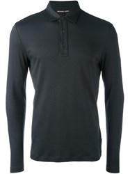 Michael Kors Longsleeved Polo Shirt Grey