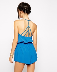 Playful Promises Jazz Strappy Back Playsuit Blue