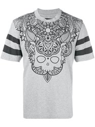 Hydrogen College Tattoo T Shirt Grey