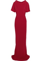 Maria Grachvogel Maia Crepe Gown Red