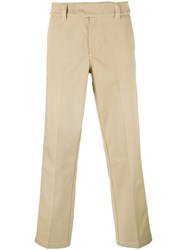 Soulland Side Stripe Chinos Nude Neutrals