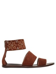 See By Chloe 10Mm Floral Studded Suede Sandals