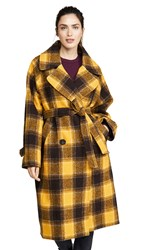 Sea Amber Belted Coat Yellow